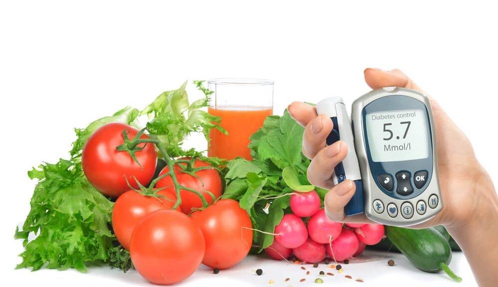 בדיקת גלוקוז עם ירקות